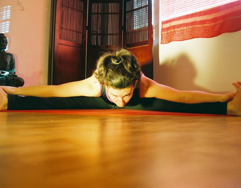 Paula Mitten of Durga Yoga, Maynooth and her home yoga practice in a blog on durga.ie