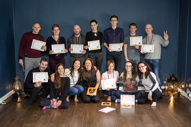 Durga yoga teachers graduate in March 2018